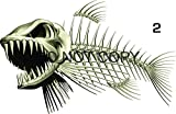 Bone Fish Beautiful Decal for Your Boat, Vehicle, Etc. Many Sizes and Styles Available 12' to 40' (Small, Position 2)