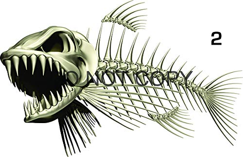 "Bone Fish Beautiful Decal for Your Boat, Vehicle, Etc. Many Sizes and Styles Available 12"" to 40"" (Small, Position 2)"