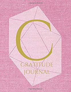 C: Monogram Personalized Gratitude Journal For Quiet Time, 5 Minutes a Day (110 Pages, 8.5 x 11)