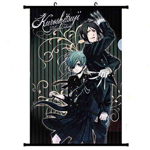 Fuyamp effektives Black Butler Wall Scroll Poster, japanisches Anime, kein Verblassen, Stoffgemälde zum Aufhängen für Zuhause (30 x 45 cm, Stil 01), N/A, MC-S, S