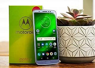 "Motorola Moto G6 Plus (64GB, 4GB RAM) XT1926-7 - 5.9"" FHD Display, Dual Sim, 4G LTE Factory Unlocked Smartphone International Model (Silver)"