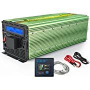 EDECOA Pure Sine Wave Power Inverter 2500W Peak 5000W DC 12V to 110V AC with LCD Display and Remote Controller