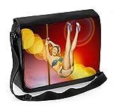 Vintage Burlesque Dancer Laptop Messenger Bag