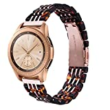 CAGOS Compatible with Samsung Galaxy Watch 42mm/Galaxy Watch Active 2 40mm/44mm Band, Stylish Lightweight Resin Replacement Straps Wristband Bracelet for Ticwatch E Smartwatch-Tortoise