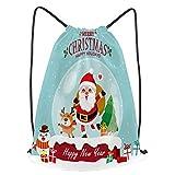 fudin Impermeable Bolsa de Cuerdas Saco de Gimnasio cartel de navidad vintage diseño vector muñeco d...