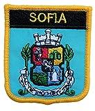 1000 Flaggen Sofia Bulgarien Shield bestickter Aufnäher