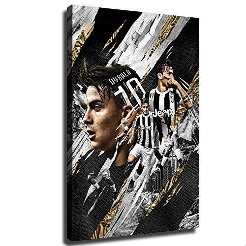 Hinyast Pósters de la Juventus Paulo Dybala Sports Football Poster Decoración de pared para sala de estar (61 x 91 cm, sin marco)