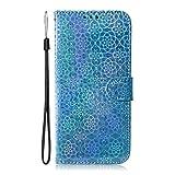 Yobby Hülle für iPhone XR,Handyhülle Leder Tasche Flip Case Magnet Handytasche Lederhülle Brieftasche Geldbörse Standfunktion Stoßfeste Schutzhülle für iPhone XR-Blau