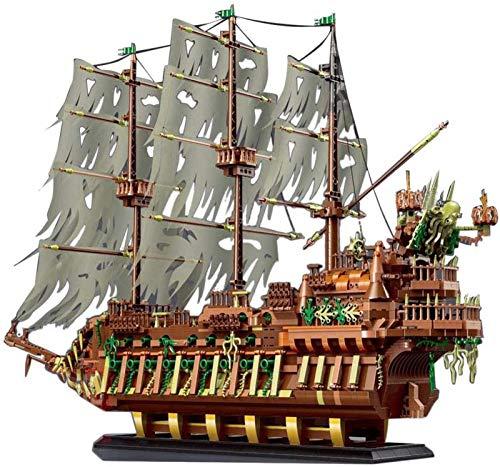 Modelo de Barco Pirata, Mold King 13138, Barco de Vela Flying Dutchman, 3653 Piezas, Bloques de Terminales MOC Grandes, Juego de Construcción Compatible con El Barco Pirata de Lego