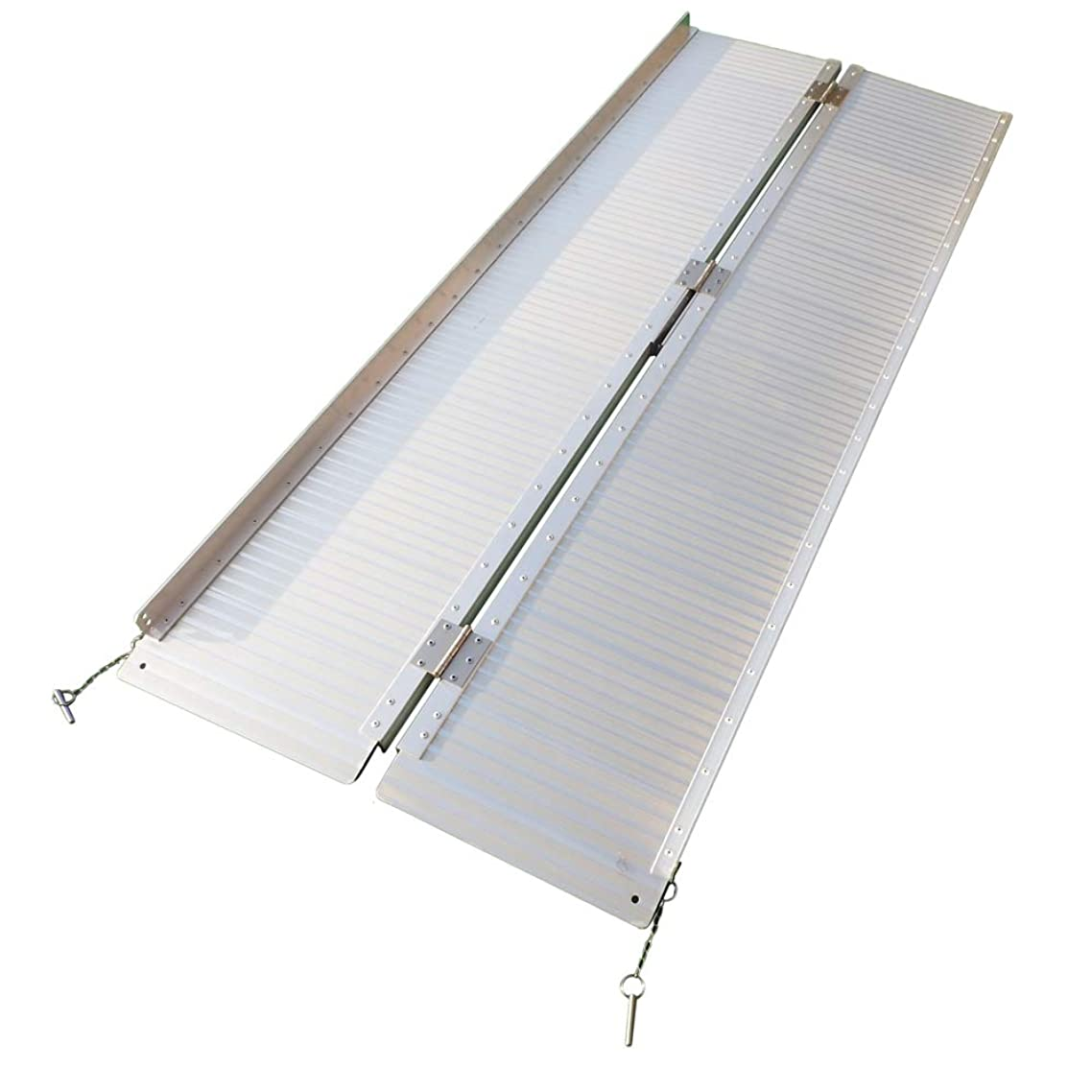 Goujxcy Threshold Ramps,6FT Portable Folding Aluminum Wheelchair Threshold Ramp with Ribbed Surface and Carrying Handle