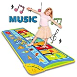YooQ Toys Piano Music mat Floor Pianos for Kids Baby crawls mat Anti-Skid Piano Keyboard Piano Play mat Dance Piano mat Suitable for Ages 3 and up 51X19in