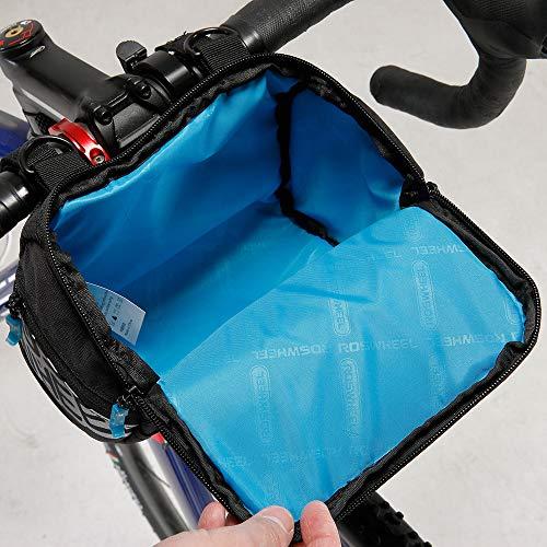 Docooler Fahrrad Lenkertasche multifunktional mit Transparentem PVC-Sichtfenster fürn Handy, 3L, wasserdichtes Material, 20 * 10.5 * 16cm - 5