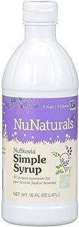 NuNaturals Premium Plant Based Simple Syrup, Sugar-Free, Stevia Sweetened, 16 Ounce
