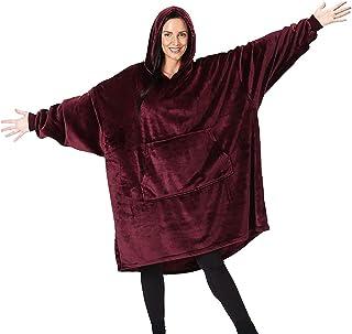 Pijama de Gran tamaño Invierno, Sudadera con Capucha, Manta súper Suave, cálida y cómoda Sudaderas Pijamas para Mujer Hombre