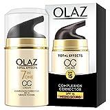 Olay Total Effects - Crema Cc 7 en 1, Tono de Piel Medio a Oscuro - Spf 15, Estándar, 50 Mililitros