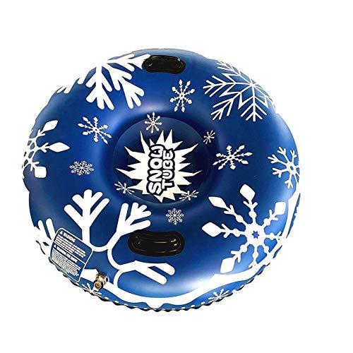 Alecony Aufblasbarer Schlitten mit Griff, Schneeflocke Aufblasbare Snow Tube für Kinder Erwachsene, Skischlitten Schlittenröhre Schneereifen Bob Schlitten Rodel Schneerutscher für Schnee Wintersport