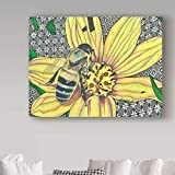 Asmoja Jigsaw Puzzle 1000 Piezas Puzzles, Educational Game para Adolescentes Adultos Niños Entretenimiento Yellow Flower Insect Bee 50x75cm