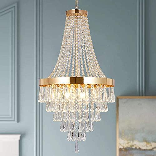 Berliget Empire French Modern Gold Raindrop Crystal...