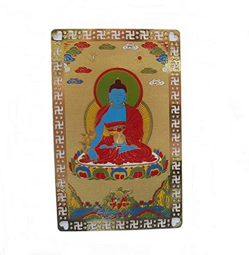 DMtse Feng Shui Medicine Buddha Health Talisman Card