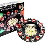 Toys4boys Jeu a Boire Roulette 30cm 16 Verres, Shot Glass Roulette Drinking Game Set, Drinking Roulette