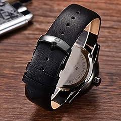 BENYAR Men's Watch Japan Quartz Movement-30M Waterproof Fashion Sports Chronograph Date Leather Men's Watch #4