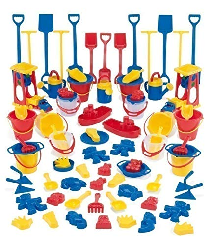 Dantoy Sandspiel-Sortiment - 82tlg. farbenfrohes Sandspielzeug in Kindergarten-Qualität (Lieferung Nicht nach Österreich!!!)