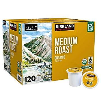 Kirkland Signature Coffee Organic Medium Roast Blend Recyclable Fair-Trade K-Cup Pods  120-count