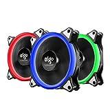 AIGO Ventilateurs de Boitier 3 Pack PC 4 Pin Portable Silent Power Unité Centrale à Roulement à Billes Ventilateur de...