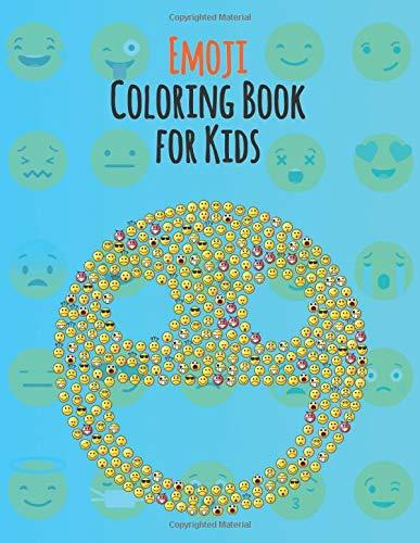 Emoji Coloring Book for Kids: An Emoji Coloring Book for Kids with 130 Funny, Cute, and Easy Coloring Pages