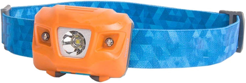 Qiuoorsqurp Lightweight Extreme Waterproof Hiking Headlights, IPX6 Waterproof Level, Outdoor Headlights Glare Lighting Headlights, high Elastic Wicking Ribbon, Wearing no Pressure, 5 Modes