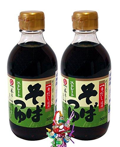 [ 2x 300ml ] TAKESAN Soba Tsuyu / Dip-Würzsauce für Soba Nudeln ( Noodles ) + ein kleines Glückspüppchen - Holzpüppchen