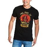 Elbenwald Un Anillo para gobernarlos a la Camiseta para Hombre Señor de los Anillos Fans de algodón Negro L