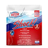 HTH 52026 Super Shock Treatment Swimming Pool Chlorine Cleaner, 1 lb (Pack of 12)