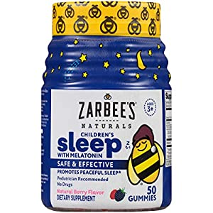 NATURAL ZZZs: Let Zarbee's Naturals remedy your child's occasional sleeplessness with a chewable gummy in a yummy natural berry flavor. Our formula contains melatonin, a drug-free & safe ingredient. NATURAL SLEEP SUPPLEMENT WITH MELATONIN: These gumm...
