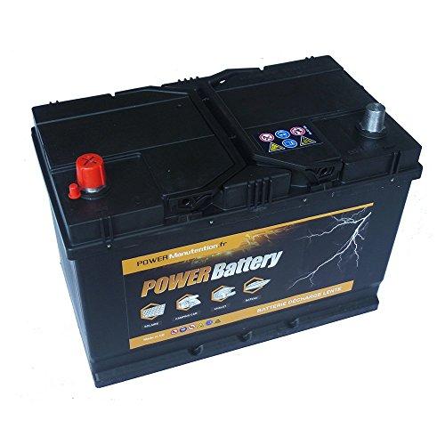 Batterie décharge lente camping car bateau 12v 75ah 266x175x225mm