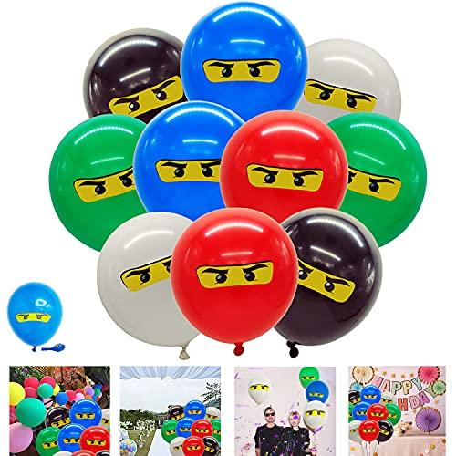 Aoligei Ninja Luftballons Ninja Ballons Kindergeburtstag Deko artydekorationen für Jungen Geburtstag Ninja-Partyartikel 50PCS(5 Farben)
