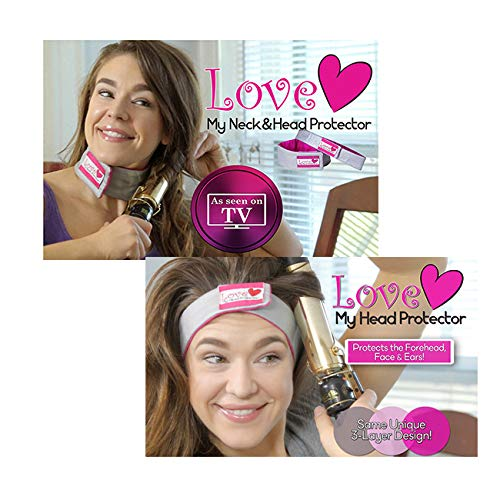 As Seen on TV: Eliminate Curling Iron Burns! Love My Neck Protector and Free Love My Head Protector