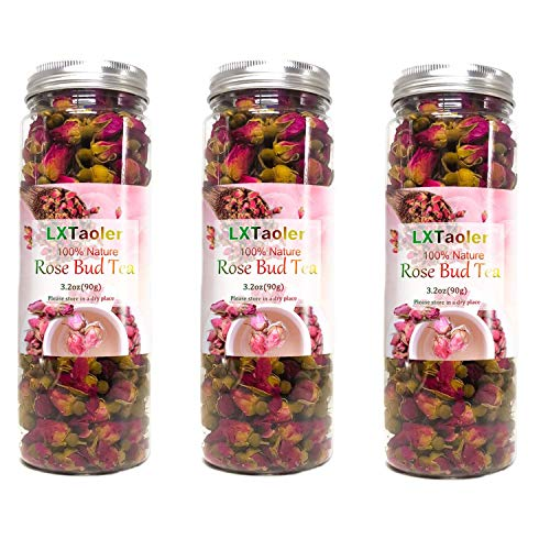 LXTaoler Natural Rose Buds, Premium Dried Rose Buds for Natural Healthy Herbal Tea,Cake Dessert Decoration (3)
