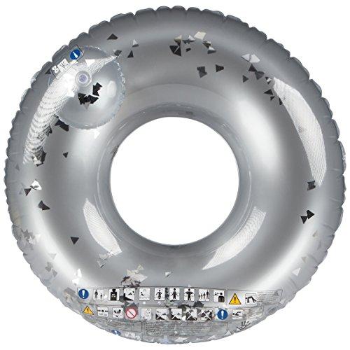Ultrakidz Riesen-Schwimmring mit Glitterfüllung, Schwimmkissen, XXL Float Spielzeug, Durchmesser ca. 109 cm, für Schwimmbad, Strand oder Pool, aus stabilem PVC, geeignet ab 14 Jahren, aufblasbar