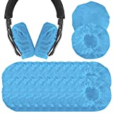 Stretchable Headphone Covers/Disposable Sanitary Earcup Earpad Covers Fits Medium/Large-Sized Headset 200 pcs (100 Pairs) Blue