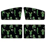 AFPANQZ Womens Car Window Shade for Side and Rear 4 Pack Magnetic Curtain Foldable Sun Visor for Automotive Truck Van Summer Against Sun Heat and Peep Universal Fit Foldable Stylish Cactus