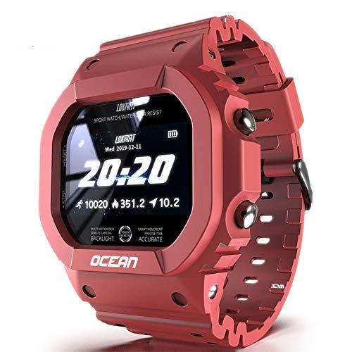 Wan&ya Reloj Deportivo para Exteriores para Hombre Reloj de Pulsera Militar Digital Reloj de Pulsera Inteligente con Bluetooth con 50M Impermeable Monitor de Ritmo cardíaco/sueño Podómetro Calorías