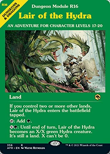 Magic: the Gathering - Lair of The Hydra (356) - Showcase (Dungeon Module Cover) - Adventures in The Forgotten Realms