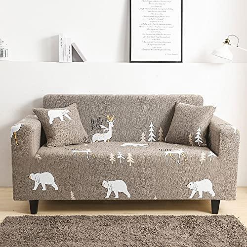 PPOS Funda de sofá elástica para Sala de Estar Funda de sofá Antideslizante Funda de sofá elástica de Spandex Universal A2 1 Asiento 90-140cm-1pc