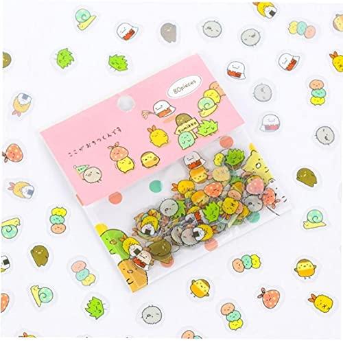 Froiny 80 Pc/Sacchetto Cancelleria Simpatici Adesivi Gatto Sticky Carta Kawaii del PVC Diario Orso Sticker per La Decorazione di Diario Stile Scrapboo