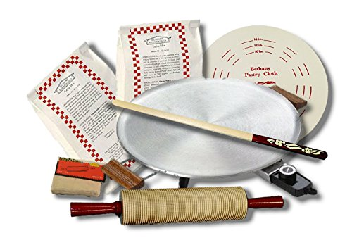 Bethany Housewares 760 Lefse Starter Kit with Lefse Mix - Aluminum Grill -...