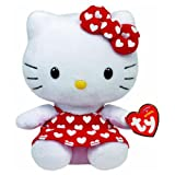 Ty Beanies - Hello Kitty 6' Red Dress with White Hearts - Hello Kitty [Toy]