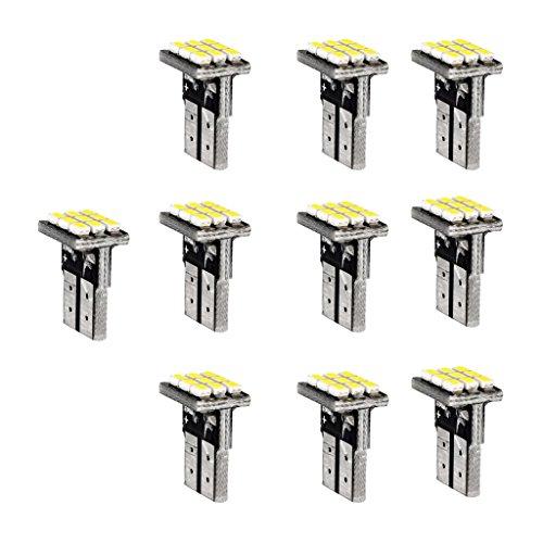 MagiDeal Feux Arrière Ampoule Lampe 10x T10 1206 9SMD Voiture Moteur Blanc Canbus LED