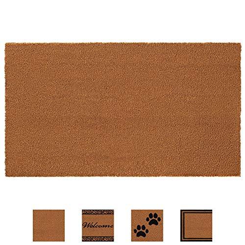Gorilla Grip Premium Durable Coir Door Mat, 24x16, Thick Heavy Duty Coco Doormat for...