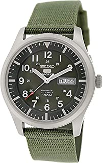 Seiko Men's Analogue Automatic Watch with Textile Strap – SNZG09K1 (B005NYLO08) | Amazon price tracker / tracking, Amazon price history charts, Amazon price watches, Amazon price drop alerts